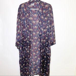 Disney Mickey Mouse Vintage Silk Kimono Robe